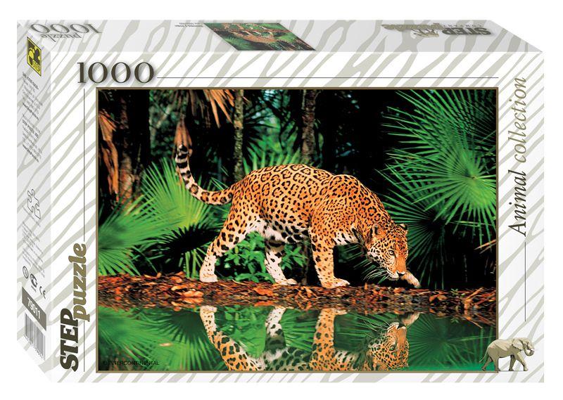 Пазл 1000 Step Леопард у воды