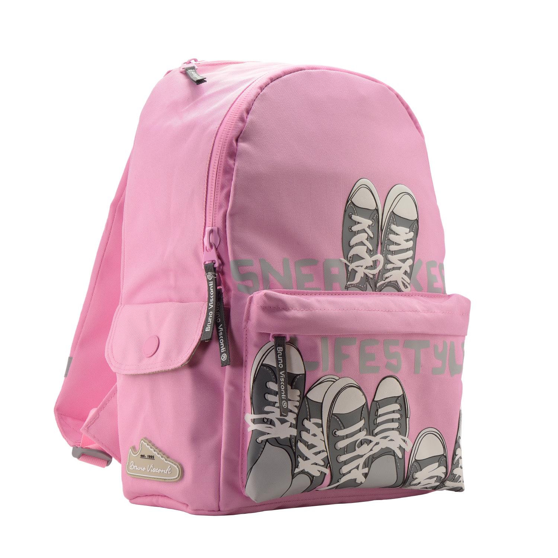 Рюкзак молодежный BV Кеды-Моя жизнь светло-розовый