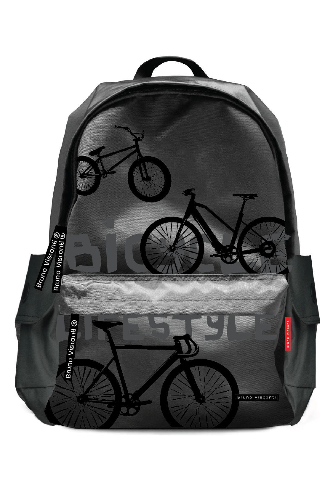Рюкзак молодежный BV Велосипеды черный