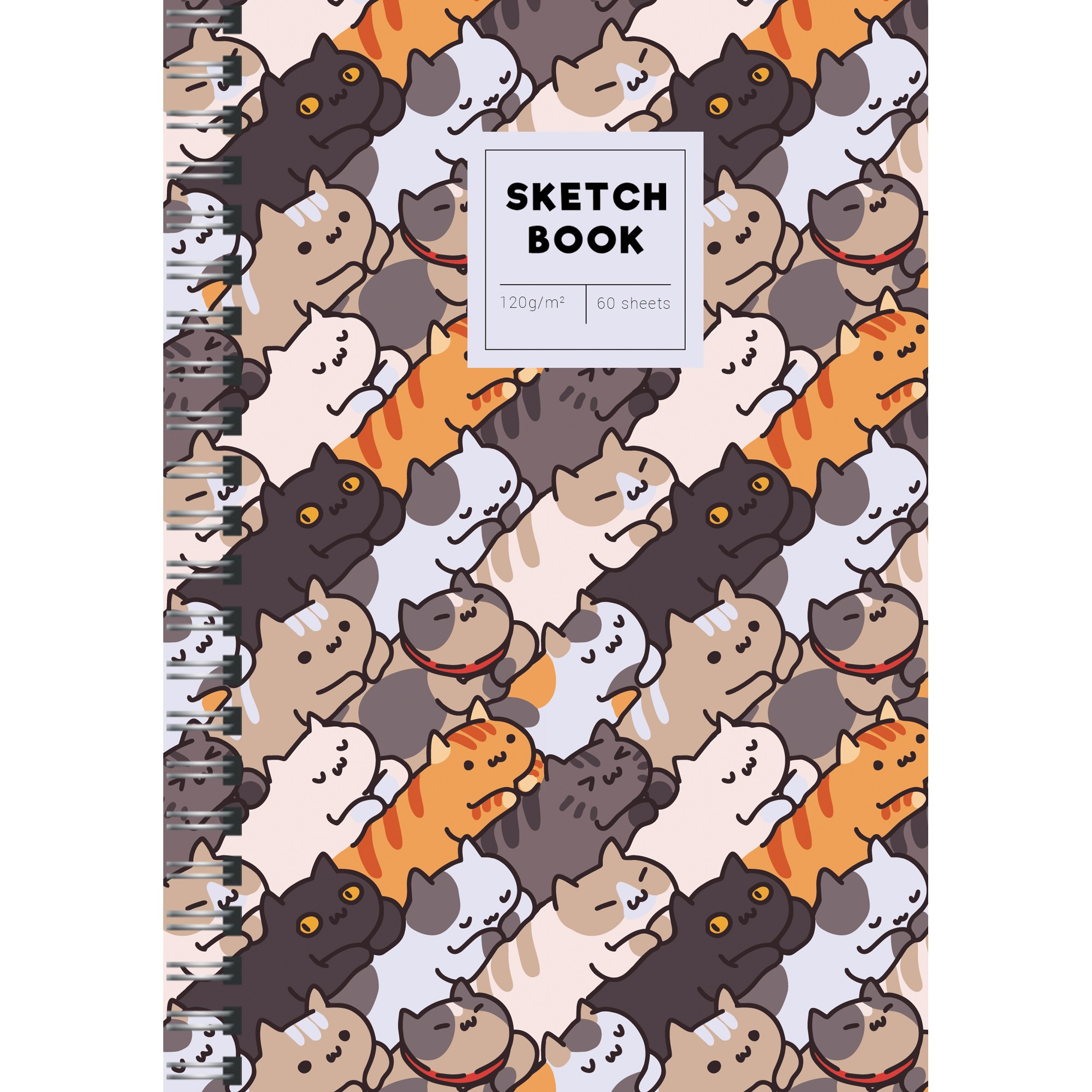 Скетчбук А5 60л тв спир SKETCHBOOK. On and on 3 120гр/м2