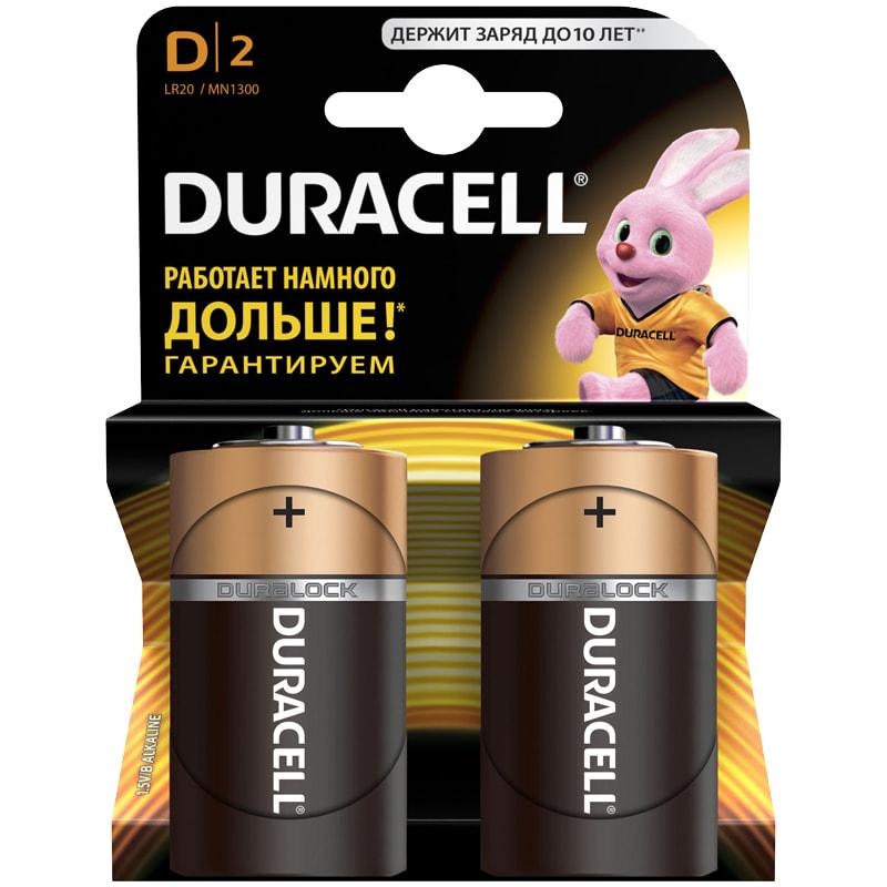 Батарейка LR20 Duracell Basic D алкалиновая 1 ШТУКА