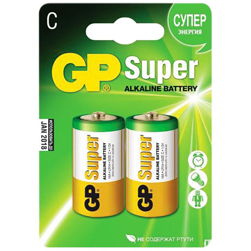 Батарейка LR14 GP Super C алкалиновая 1 ШТУКА