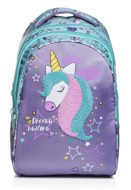 Рюкзак эргономич. Hatber Dream unicorn сиреневый с мятой