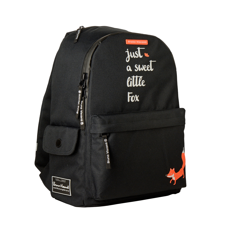 Рюкзак молодежный BV Лисий хвост, черный
