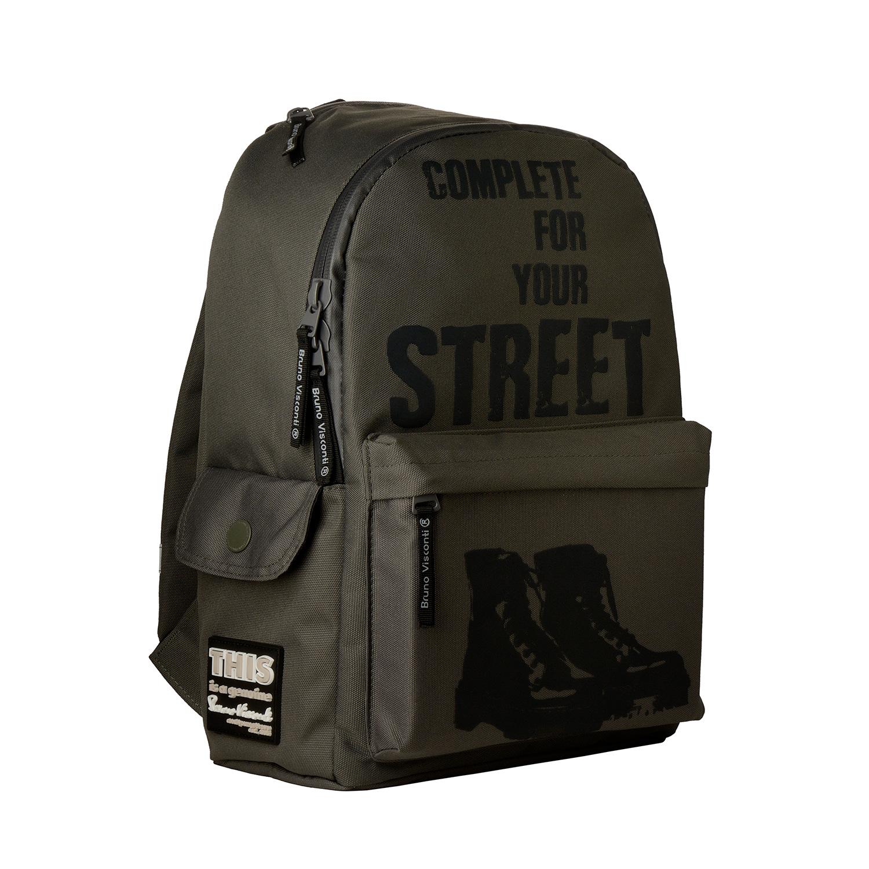 Рюкзак молодежный BV Модные ботинки, темно-серый