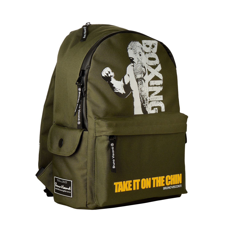 Рюкзак молодежный BV Бокс, темно-зеленый