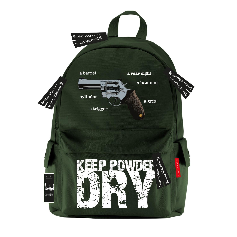 Рюкзак молодежный BV Револьвер, темно-зеленый