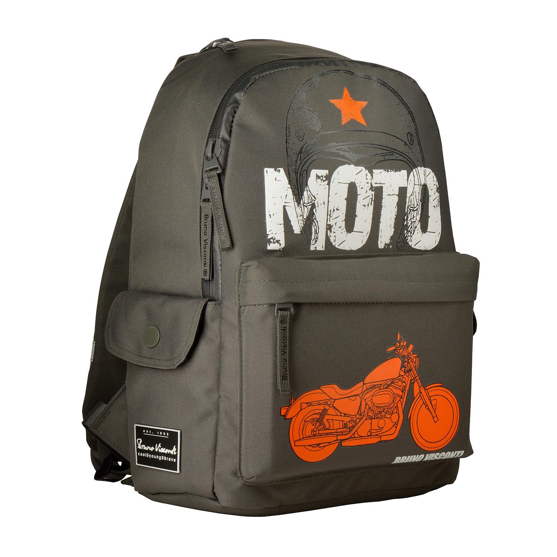 Рюкзак молодежный BV Moto, темно-серый