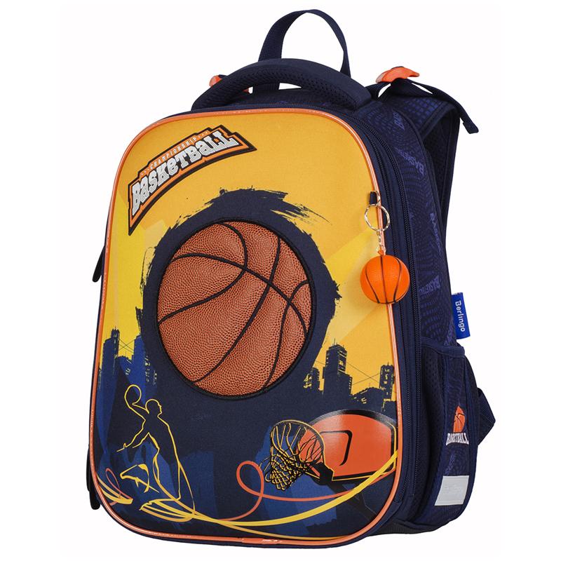 Ранец панцирный Berlingo Basketball черный