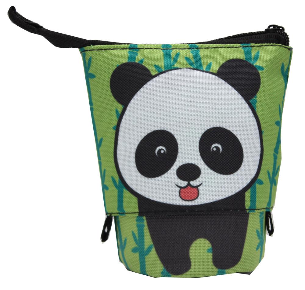 Пенал-косметичка Довольная панда (трансформер стакан)
