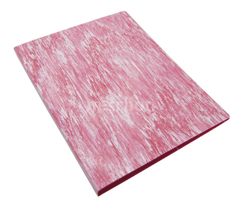 Папка с 2 кольцами 27мм Бюрократ Melange красный 0,7мм