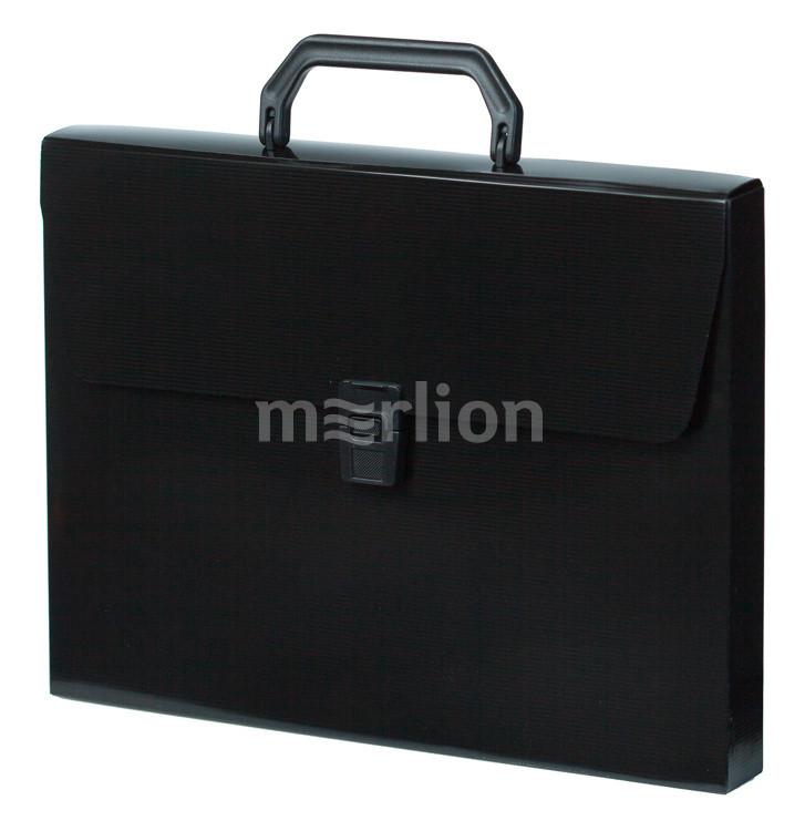 Портфель с ручкой 1отд Бюрократ DeLuxe черный 0,7мм