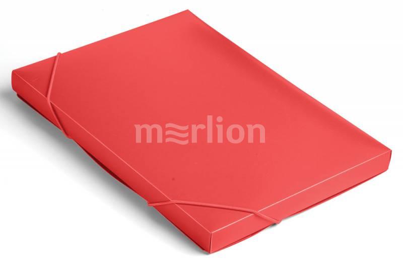 Папка на резинках А4 1отд Бюрократ 25мм A4 красный