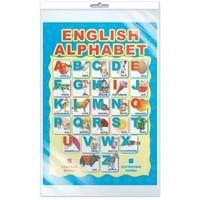 Плакат English Alphabet А3 (в индивидуальной упаковке с европодвесом)