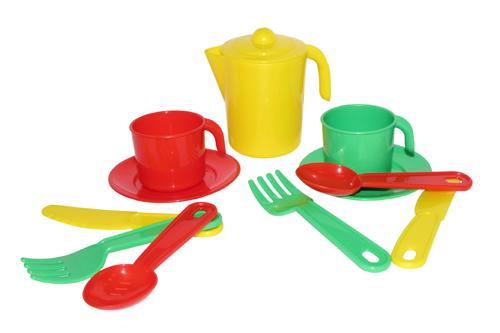 """Набор посуды """"Анюта"""" на 2 персоны пластмас."""
