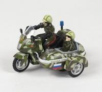Мотоцикл Военные силы с люлькой (свет, звук)