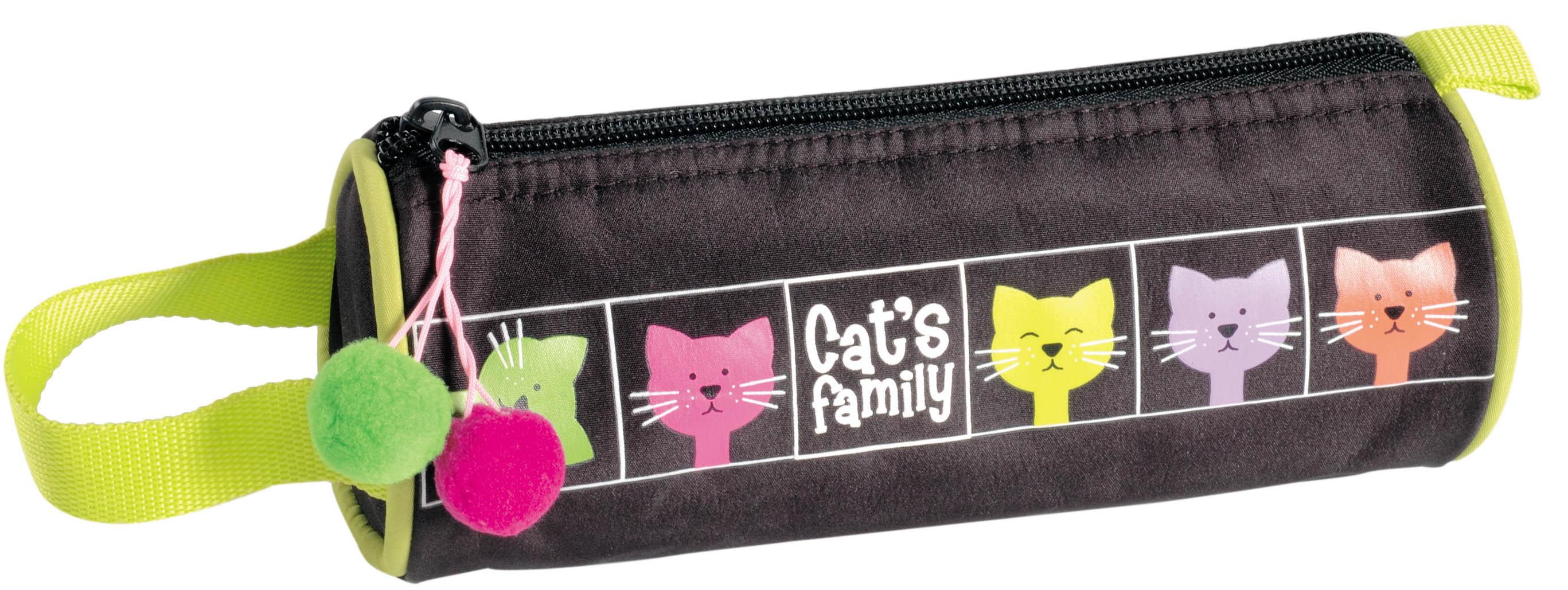 Пенал-косметичка Cat's Family (тубус)