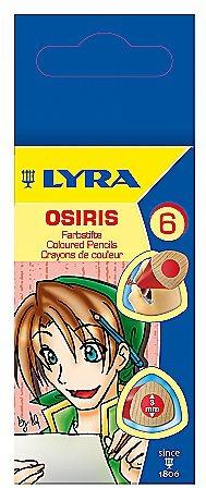 Карандаши цветные 6 цв Lyra Osiris короткие, треугольные