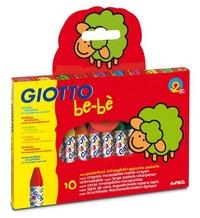 Мелки восковые 10цв Giotto Be-Be + точилка небьющиеся