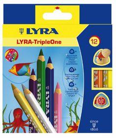 Карандаши цветные 12 цв Lyra Triple one 6,25мм треуг