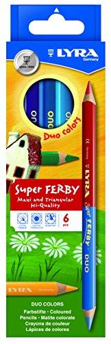 Карандаши цветные 6 цв Lyra Super Ferby DUO двуцветные