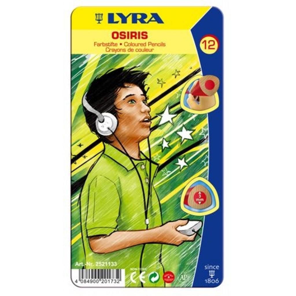 Карандаши цветные 12 цв Lyra Osiris треуг мет/уп