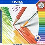 Карандаши цветные 24 цв акварел Lyra Osiris aqvarell треуг + кисть