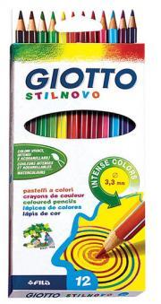 Карандаши цветные 12 цв Giotto Stilnovo стержень 3,3мм