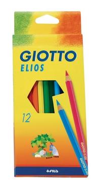 Карандаши цветные 12 цв Giotto Elios стержень 2,8мм