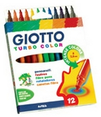 Фломастеры 12 цв Fila Giotto Turbo Color