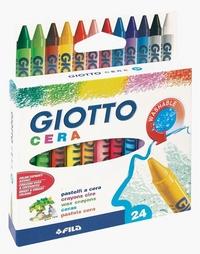 Мелки восковые 24цв Giotto Cera