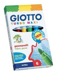 Фломастеры 6 цв Fila Giotto Turbo Maxi утолщен