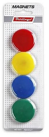 Магниты 4см 4шт цветные