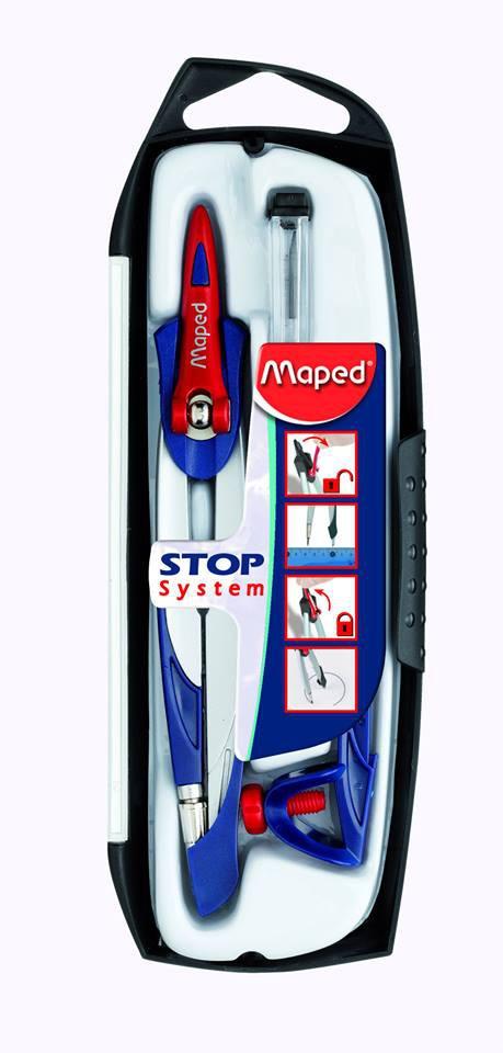 Готовальня 3пр Maped Stop System (грифель 2мм)