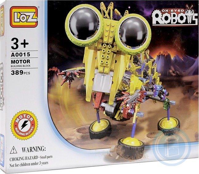 АКЦИЯ19 Конструктор пластмассовый Робот 389дет.(на батарейках)
