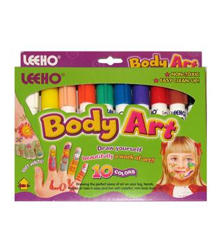 Мелки для лица и тела 10цв Body Art к/к