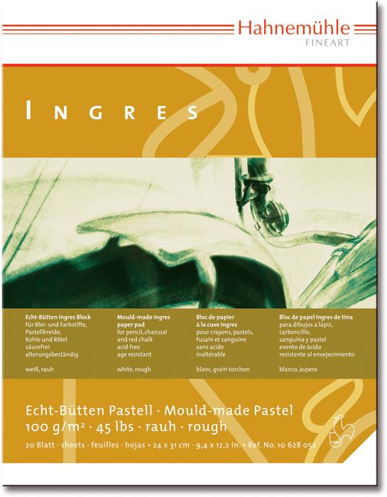 Бумага для пастели А4 20л 9цв Ingres 100гр/м2 альбом-склейк на мульдах