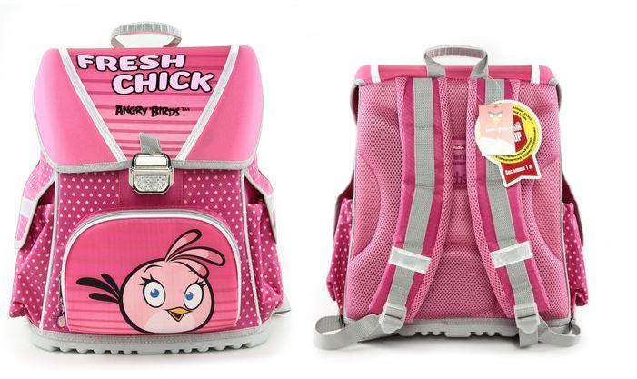 Рюкзак Hatber Angry Birds Stella ортопедический розовый Optimum Hatber