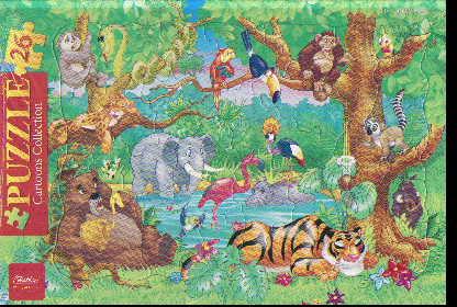 Пазл 26 В джунглях в рамке