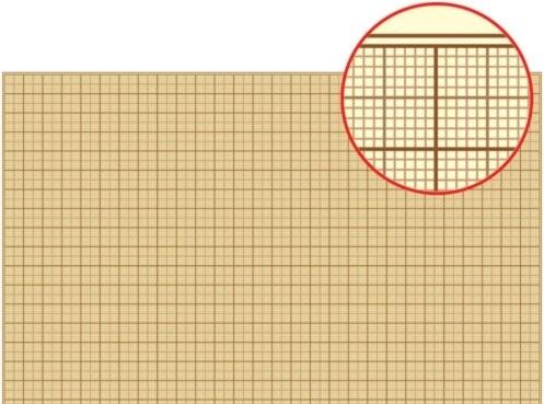 Бумага миллиметровая 1 лист А2 (оранж. сетка)