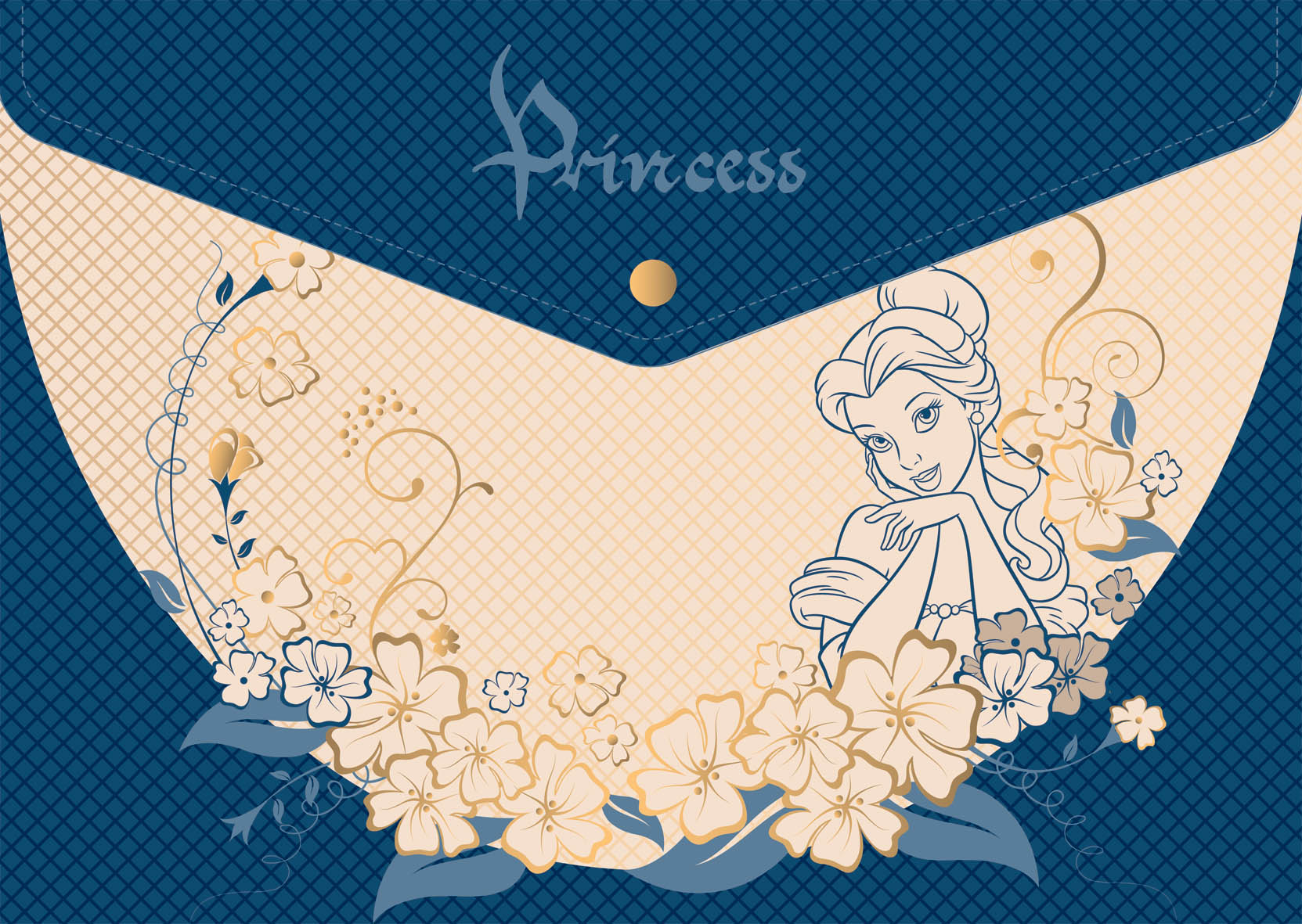Папка-конверт А4 на кнопке EK Princess