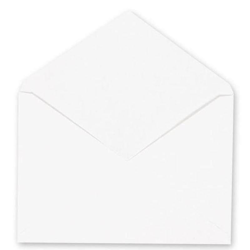 Конверт С6 114*162 белый без надписи клеев край треугол клапан
