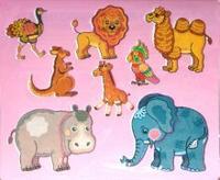 Трафареты Экзотические животные (пластик)