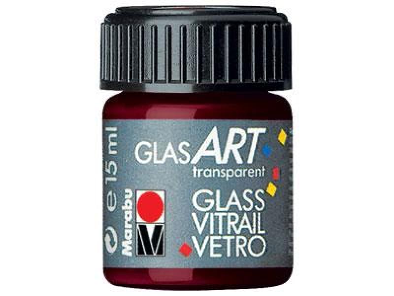 Лак-краска витражный GlasArt Красный Кармин 15мл