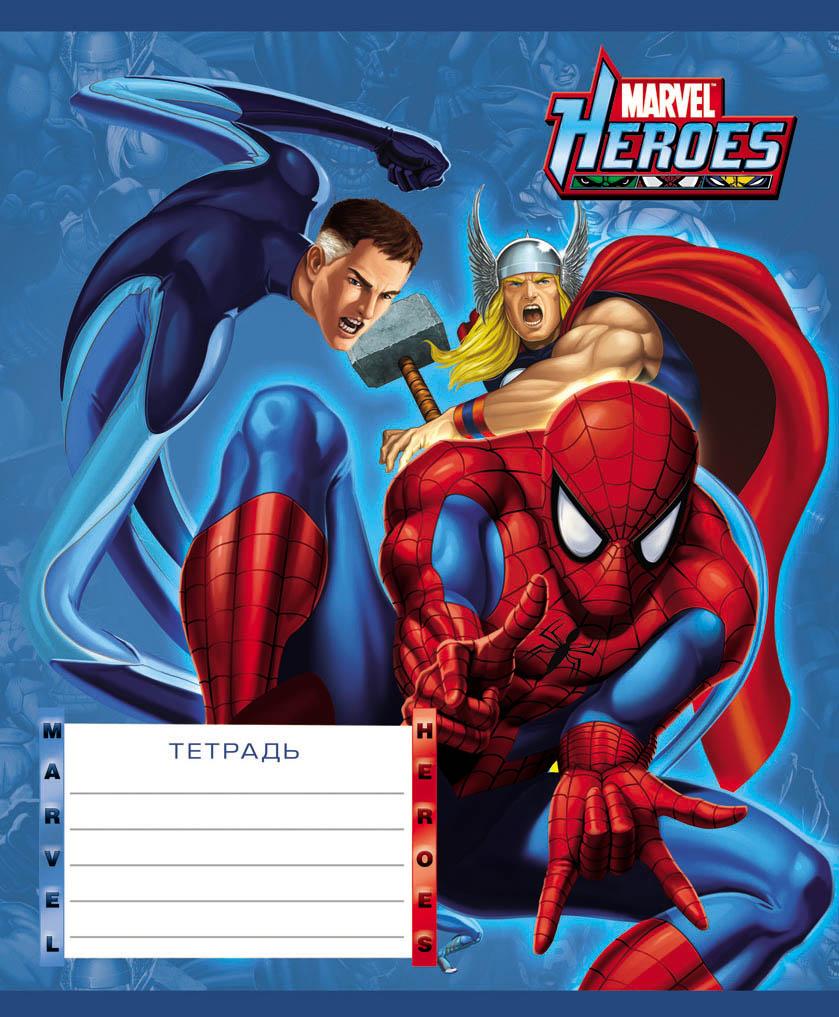 Тетрадь 12л клетка Marvel