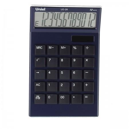Калькулятор 12 разр. Uniel настольный синий