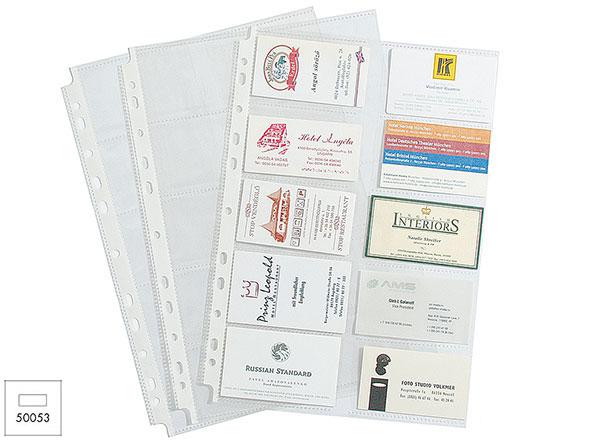 Вкладыш д/папок А4 мультифора EK с карманами для визиток