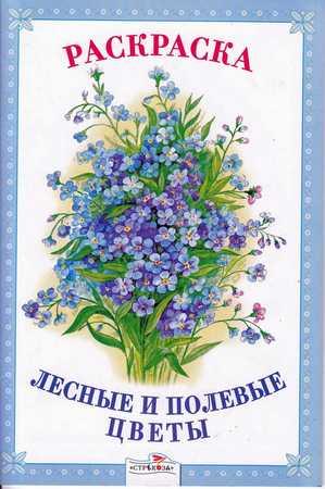 Раскраска Животные Лесные и полевые цветы