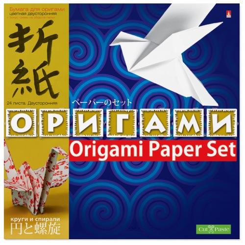 Творч Бумага д/оригами А4 24л Круги и спирали