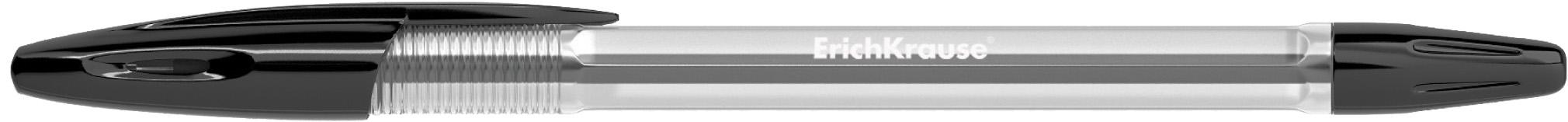 ккКанц Ручка шариковая EK R-301 черная прозр. корпус